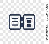 book reader icon. trendy book... | Shutterstock .eps vector #1262437201