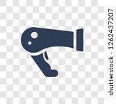 blow dryer icon. trendy blow... | Shutterstock .eps vector #1262437207
