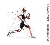 run  low polygonal running man  ... | Shutterstock .eps vector #1262439907