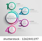paper infographic template with ... | Shutterstock .eps vector #1262441197