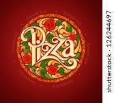 pizza design template | Shutterstock .eps vector #126244697