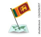 map with flag of sri lanka... | Shutterstock .eps vector #1262456557