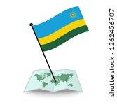map with flag of rwanda... | Shutterstock .eps vector #1262456707
