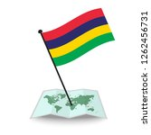 map with flag of mauritius... | Shutterstock .eps vector #1262456731