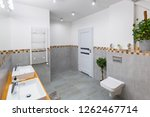 modern bathroom interior with... | Shutterstock . vector #1262467714