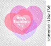 valentine. | Shutterstock .eps vector #126248729