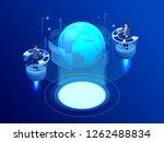 isometric global network... | Shutterstock .eps vector #1262488834