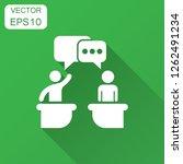 politic debate icon in flat... | Shutterstock .eps vector #1262491234