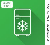 fridge refrigerator icon in... | Shutterstock .eps vector #1262491297