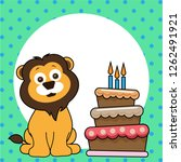 cute happy birthday card with... | Shutterstock .eps vector #1262491921