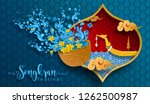 songkran festival  thailand... | Shutterstock .eps vector #1262500987