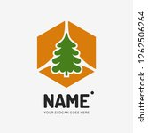 christmas tree. vector logo... | Shutterstock .eps vector #1262506264