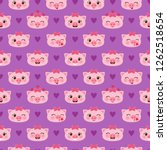 vector seamless pattern with... | Shutterstock .eps vector #1262518654