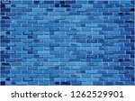 blue brick wall   illustration  ... | Shutterstock .eps vector #1262529901