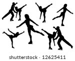 figure skating  vector | Shutterstock .eps vector #12625411