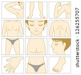 man body parts | Shutterstock .eps vector #126255707