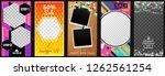 instagram story template for... | Shutterstock .eps vector #1262561254