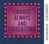 writing note showing finance... | Shutterstock . vector #1262568247