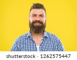 bearded and happy. man bearded... | Shutterstock . vector #1262575447