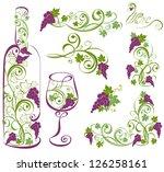 vector wine design elements. ...