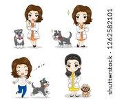 set of doctor character concept ... | Shutterstock .eps vector #1262582101