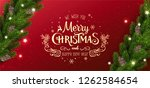 gold christmas and new year... | Shutterstock .eps vector #1262584654