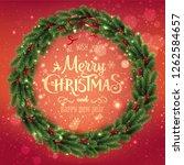 gold merry christmas... | Shutterstock .eps vector #1262584657