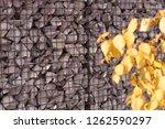 texture welded gabions | Shutterstock . vector #1262590297