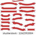 set ribborn. vector... | Shutterstock .eps vector #1262592004