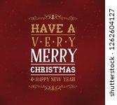 merry christmas. typography.... | Shutterstock .eps vector #1262604127