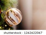 christmas ornament ball... | Shutterstock . vector #1262622067