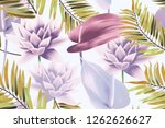 colourful seamless pattern with ... | Shutterstock . vector #1262626627
