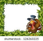 illustration of a turkey and... | Shutterstock .eps vector #126263225