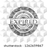 expired grey emblem. retro with ... | Shutterstock .eps vector #1262659867