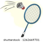 illustration of a badminton...   Shutterstock .eps vector #1262669701