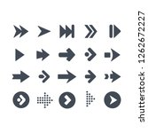 collection of arrows symbol | Shutterstock .eps vector #1262672227