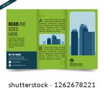 business trifold brochure or... | Shutterstock .eps vector #1262678221