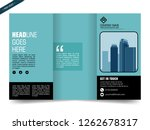business trifold brochure or... | Shutterstock .eps vector #1262678317