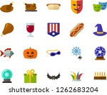 color flat icon set   a glass... | Shutterstock .eps vector #1262683204