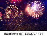 fireworks at new year and copy... | Shutterstock . vector #1262714434