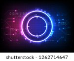 abstract circle digital over...   Shutterstock .eps vector #1262714647