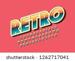 vector of stylized modern font... | Shutterstock .eps vector #1262717041