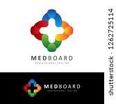 med board human medical logo | Shutterstock .eps vector #1262725114