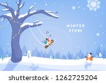 winter story illustration | Shutterstock .eps vector #1262725204