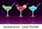 margarita  classic  fresh... | Shutterstock .eps vector #1262731444
