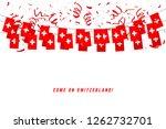 switzerland garland flag with... | Shutterstock .eps vector #1262732701
