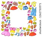 children clothing and fashion.... | Shutterstock .eps vector #1262733571