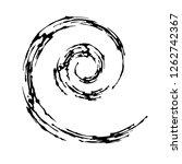 hand drawn vector spiral in... | Shutterstock .eps vector #1262742367