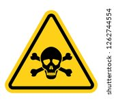 toxic warning yellow sign... | Shutterstock .eps vector #1262744554