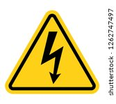 high voltage warning yellow... | Shutterstock .eps vector #1262747497